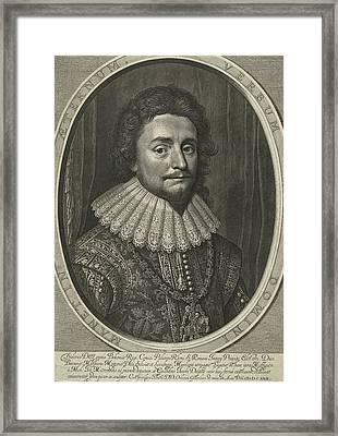 Portrait Of Frederick V, Elector Palatine Framed Print by Willem Jacobsz. Delff