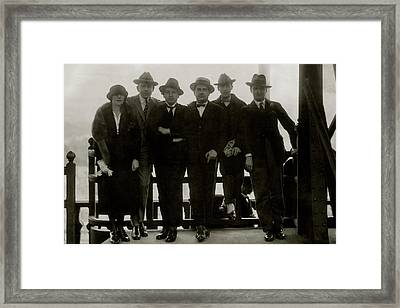Portrait Of French Musicians Les Six Framed Print by Isabey