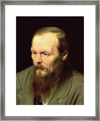 Portrait Of Fyodor Dostoyevsky 1821-81 1872 Oil On Canvas Detail Of 67923 Framed Print by Vasili Grigorevich Perov