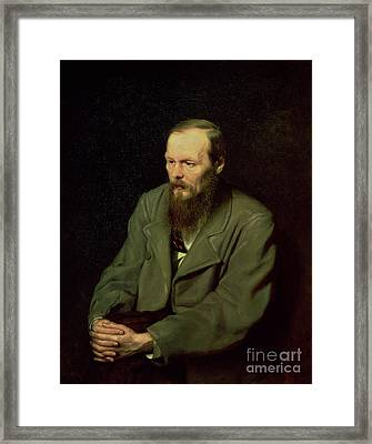 Portrait Of Fyodor Dostoyevsky Framed Print