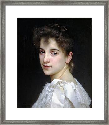 Portrait Of Gabrielle Cot Framed Print by William Bouguereau