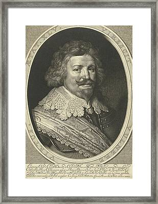 Portrait Of Gaspard De Coligny, Duke Of Chtillon At The Age Framed Print by Willem Jacobsz. Delff