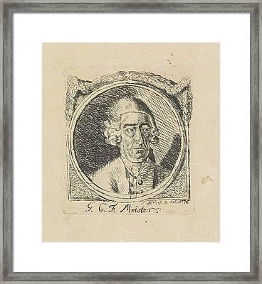 Portrait Of G.c.f Meister, Monogrammist Fbvr Framed Print