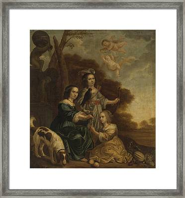 Portrait Of Geertruyt, Margriet And Anna Delff Framed Print by Litz Collection