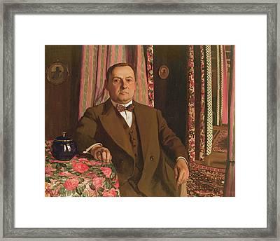 Portrait Of Georg E. Haasen, 1913 Oil On Canvas Framed Print