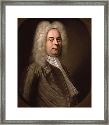 Portrait Of Georg Friedrich Handel Framed Print by Balthasar Denner