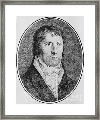 Portrait Of Georg Wilhelm Friedrich Hegel  Framed Print by FW Bollinger