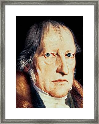 Portrait Of Georg Wilhelm Friedrich Hegel Framed Print by Jacob Schlesinger