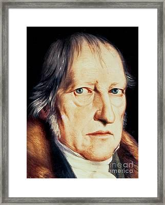 Portrait Of Georg Wilhelm Friedrich Hegel Framed Print
