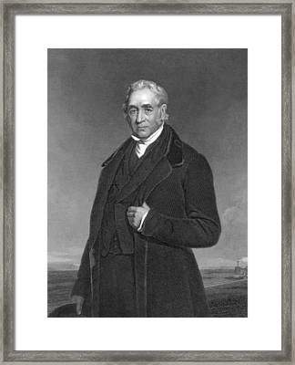 Portrait Of George Stephenson Framed Print