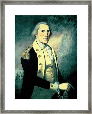 Portrait Of George Washington Framed Print by James the Elder Peale