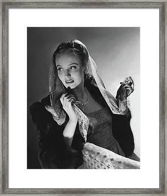 Portrait Of Georgia Carroll Framed Print by Horst P. Horst