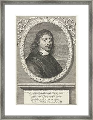 Portrait Of Gerard Hulft, Abraham Bloteling Framed Print