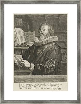 Portrait Of Gerardus Joannes Vossius, Print Maker Theodor Framed Print