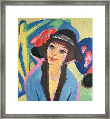 Portrait Of Gerda Framed Print by Ernst Ludwig Kirchner