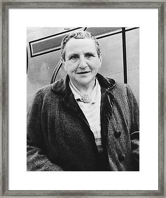 Portrait Of Gertrude Stein Framed Print