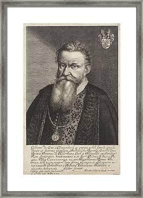 Portrait Of Gijsbertus De Vos Van Vossenburch Framed Print by Litz Collection
