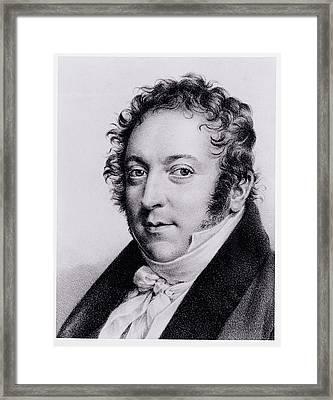 Portrait Of Gioacchino Rossini, Italian Framed Print