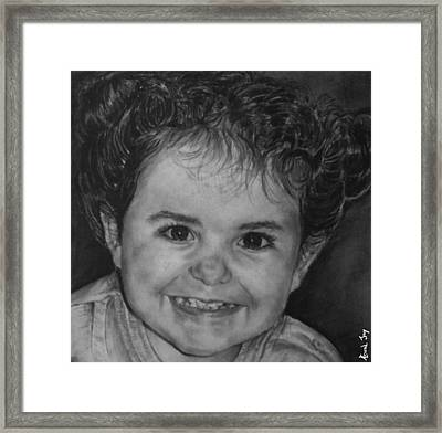 Portrait Of Giulia Framed Print by Arual Jay