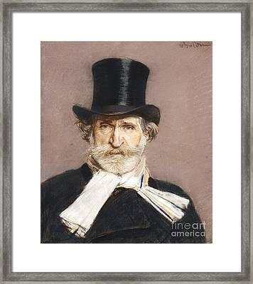 Portrait Of Giuseppe Verdi Framed Print