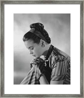 Portrait Of Gloria Vanderbilt Framed Print by Frances Mclaughlin-Gill