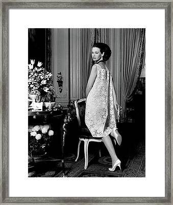 Portrait Of Gloria Vanderbilt Framed Print