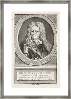 Portrait Of Godard Van Reede, Jacob Houbraken Framed Print by Jacob Houbraken And Isaak Tirion