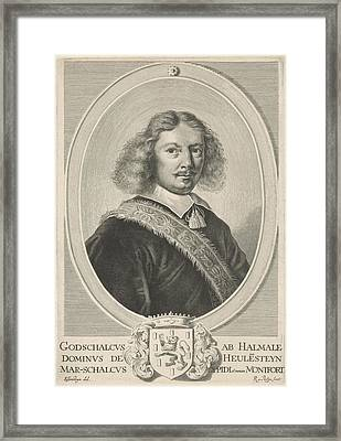 Portrait Of Godschalck Of Halmale, Reinier Van Persijn Framed Print