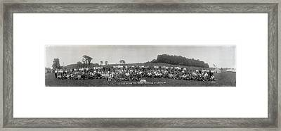 Portrait Of Group Of People At Camp Framed Print