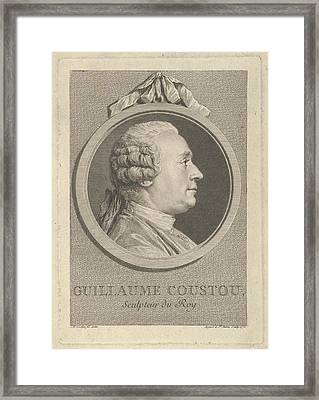 Portrait Of Guillaume Coustou Framed Print