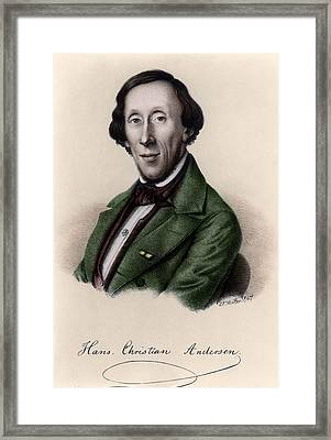 Portrait Of Hans Christian Andersen Framed Print