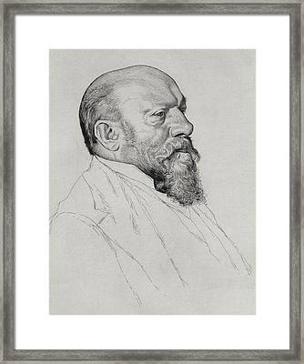 Portrait Of Hans Richter Framed Print by William Strang