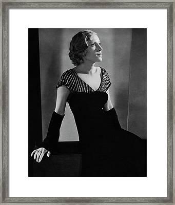 Portrait Of Helen Menken Framed Print by Charles Sheeler