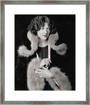 Portrait Of Helen Menken Framed Print by Nickolas Muray