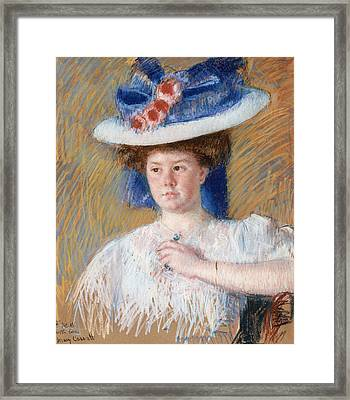 Portrait Of Helen Sears Framed Print by Celestial Images