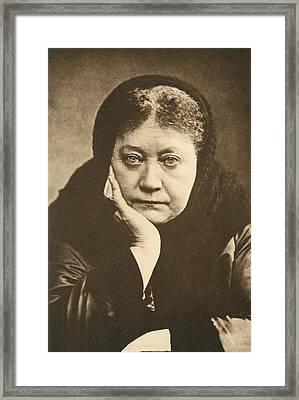 Portrait Of Helena Blavatsky Framed Print by Underwood Archives