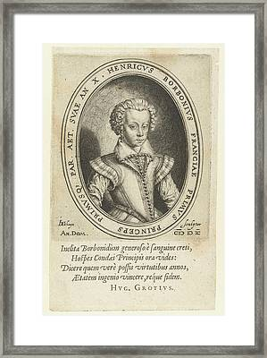 Portrait Of Henry II Of Bourbon, Prince Of Conde Framed Print