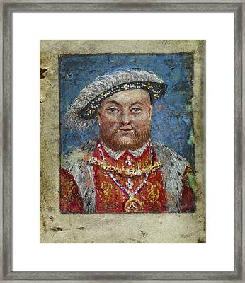 Portrait Of Henry Viii Framed Print by British Library