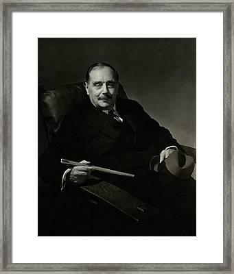 Portrait Of Herbert George Wells Framed Print by Edward Steichen