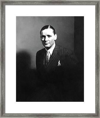 Portrait Of Herbert Marshall Framed Print