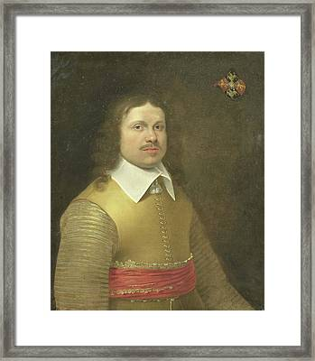 Portrait Of Herman Van Der Hem Van Nederstein Herman Framed Print by Litz Collection