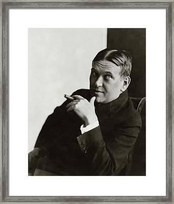 Portrait Of H.l. Mencken Framed Print