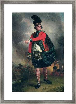 Portrait Of Hugh Montgomerie, 12th Earl Of Eglinton 1739-1819 C.1780 Oil On Canvas Framed Print