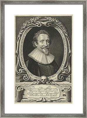 Portrait Of Hugo Grotius At The Age Of 49 Framed Print by Willem Jacobsz. Delff And Dani?l Heinsius
