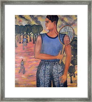 Portrait Of Hugo Tilghman - Tennis Player Framed Print by Mountain Dreams