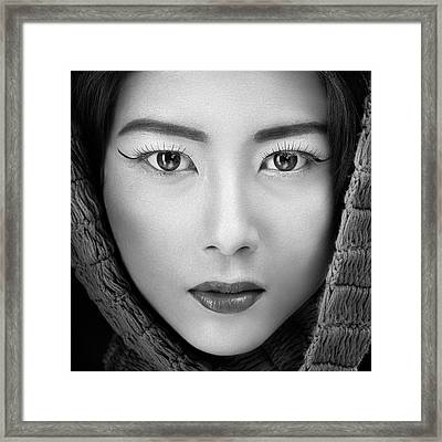 Portrait Of Icha Framed Print by Arief Siswandhono