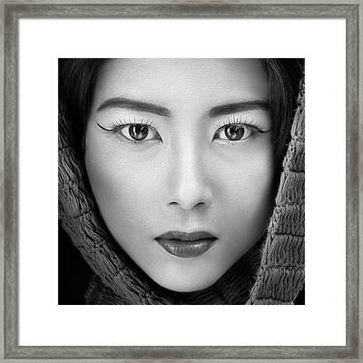 Portrait Of Icha Framed Print
