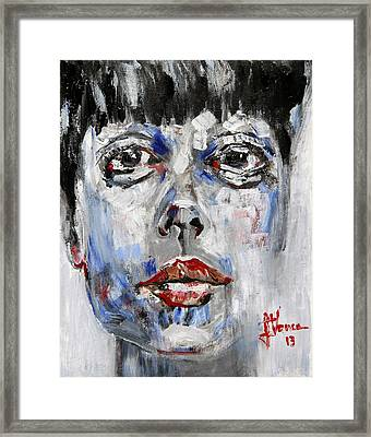 Portrait Of Illustra Framed Print