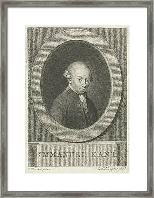 Portrait Of Immanuel Kant, Lambertus Antonius Claessens Framed Print