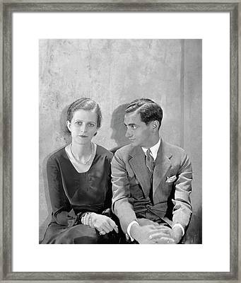 Portrait Of Irving Berlin And His Wife Framed Print